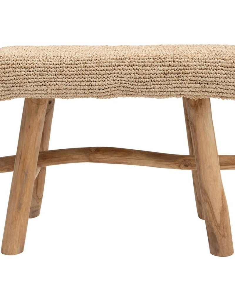 Upholstered Stool w/Wood Legs