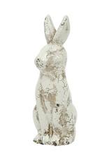 """8""""H Distressed Creramic Rabbit"""