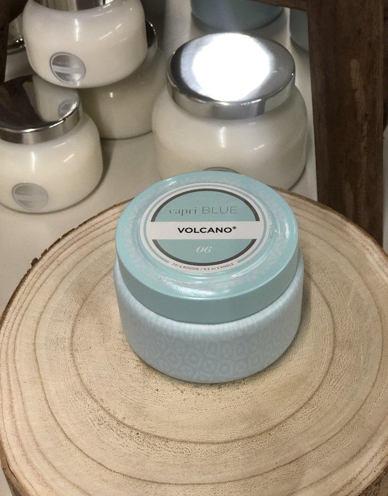Capri Blue Volcano Aqua Signature Printed Tin 8.5oz Candle