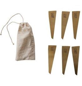 Stainless Steel Cheese Markers, Gold
