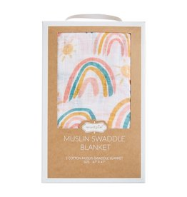 Rainbow Muslin Swaddle