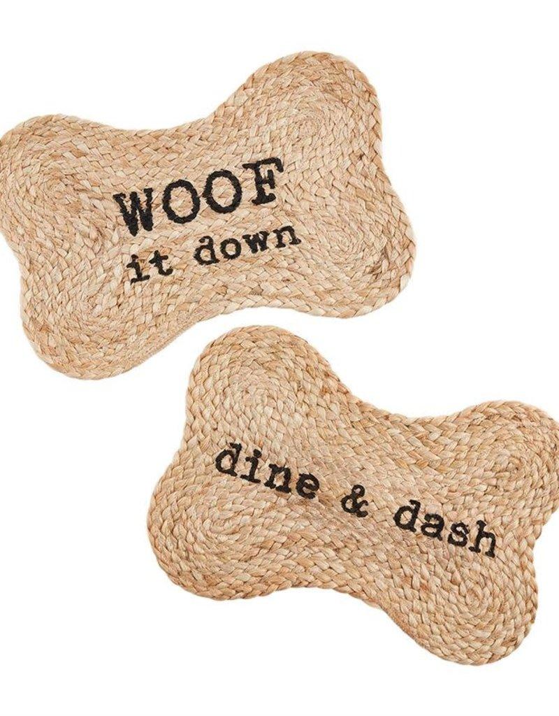 Dine Dash Jute Dog Bowl Mat