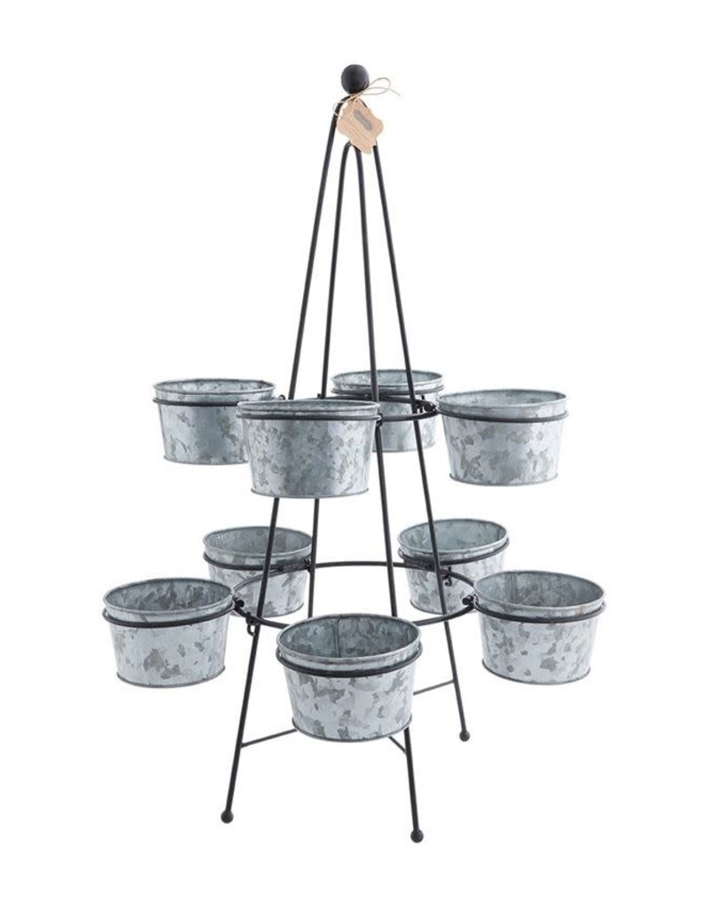 Tin Bucket Stand