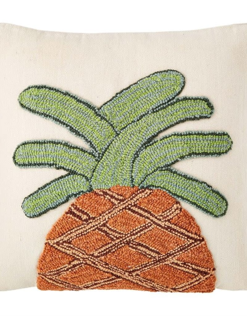 PINEAPPLE HOOKED PILLOW