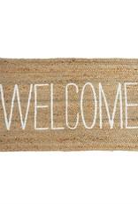 Welcome Jute Fringe Mat