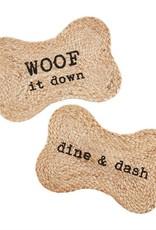 Woof It Down Jute Dog Mat