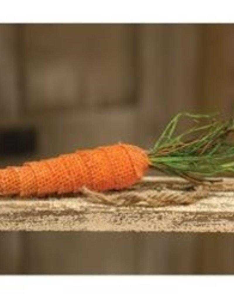 Burlap carrot ornament