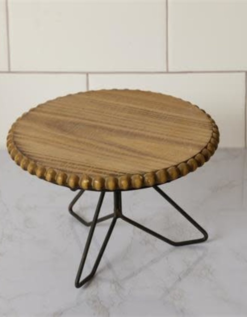 Beaded Wood Stand