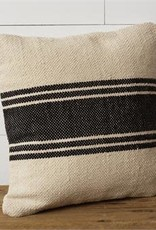 Grain Sack Black Stripe Pillow