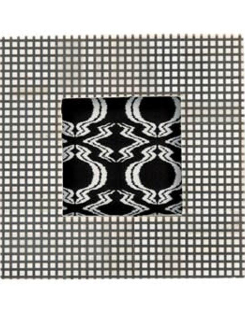 """6.75"""" square checked natural and black frame, 4x4"""