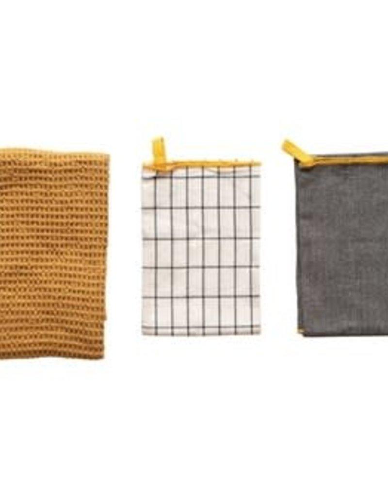 Multi Colored Tea Towels, set of 3