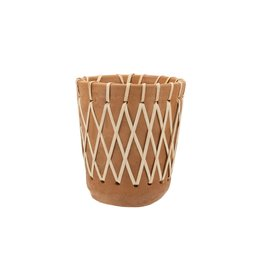 Rattan woven planter, Medium