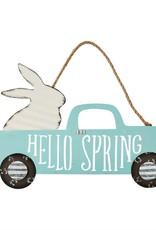 Tin Bunny Door Hanger