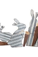 Tin Easel Bunny