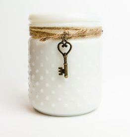 White Hobnail Candle