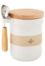 Stoneware Coffee Canister Set