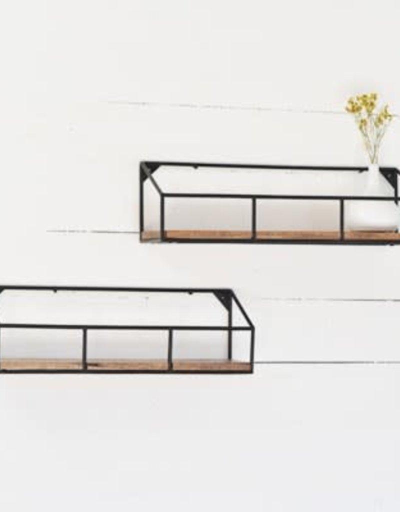 Iron Wood Wall Shelf