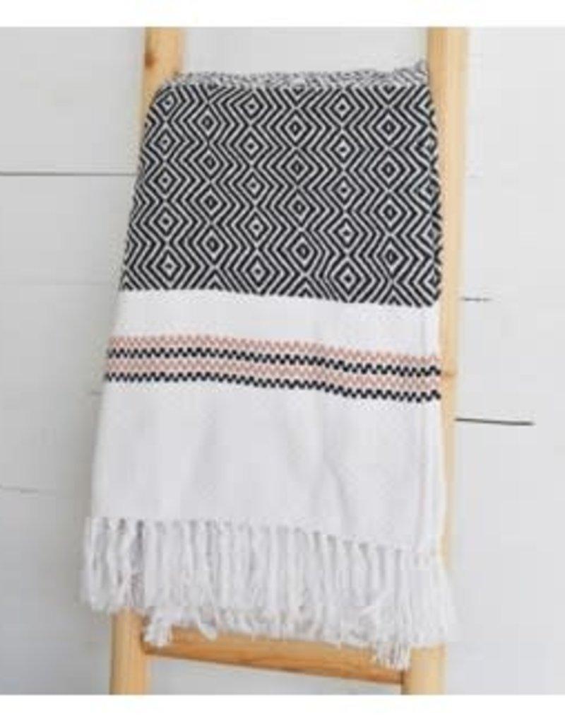 "50""x60"" Multi Pattern Cotton Throw"