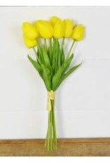 9 Yellow Tulip Bunch