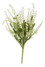 """19"""" White Lavender Bush w/Eva Foilage"""
