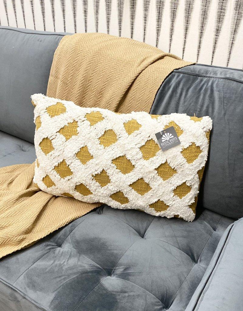 Mustard Criss Cross Pillow