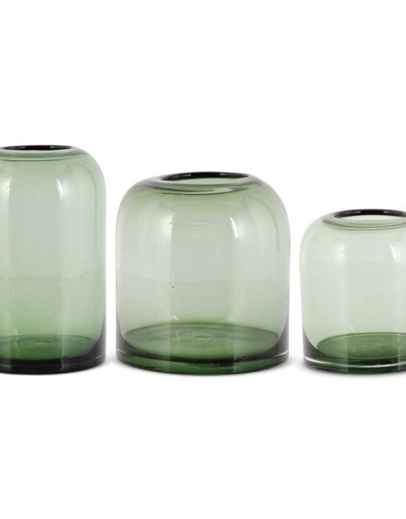 Green Transparent Glass Vase