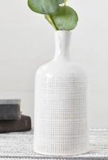 """9.65"""" White Vase"""