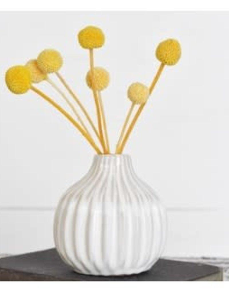 "4"" Decorative White Vase"