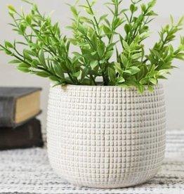 """4.75"""" White Textured Planter"""