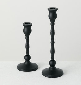 Taper Candle Holder, S/2 Black