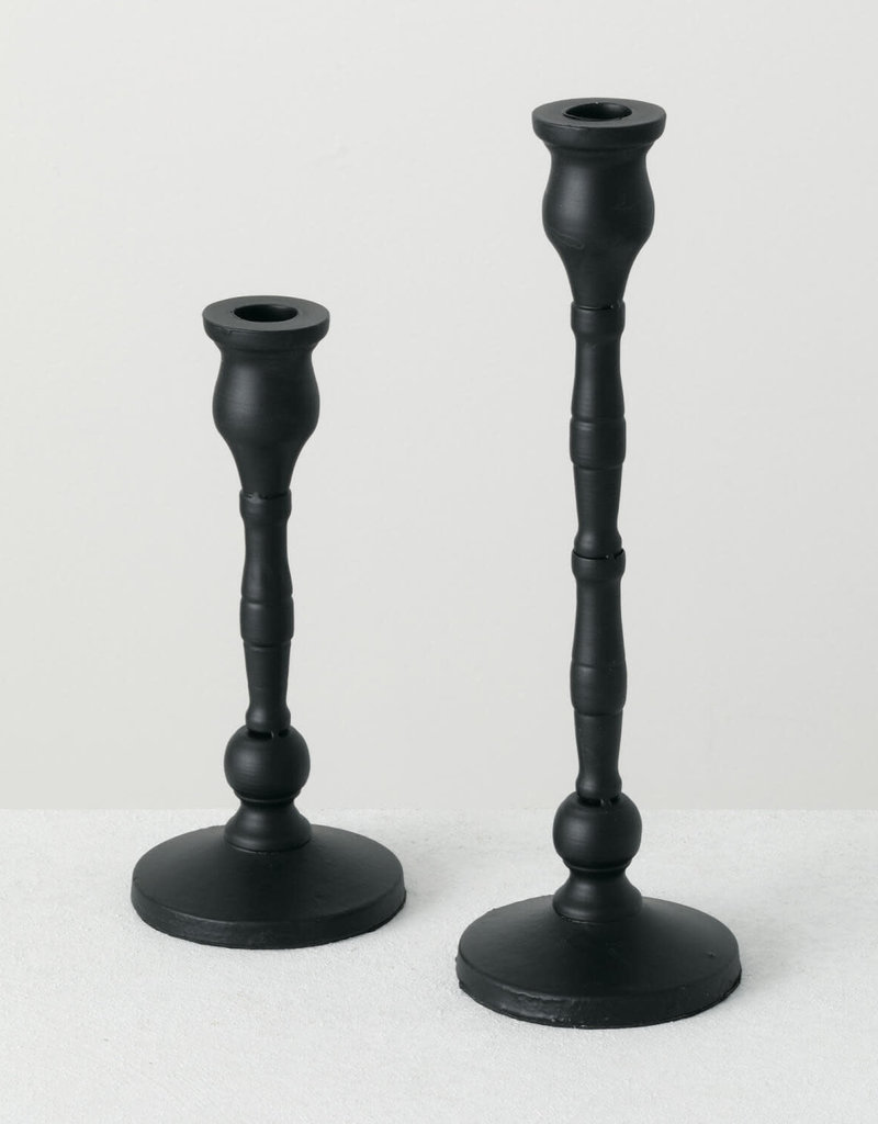 Taper Candle Holder, S/2 Black