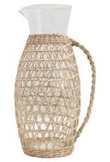 Glass Pitcher w/ Seagrass Weave