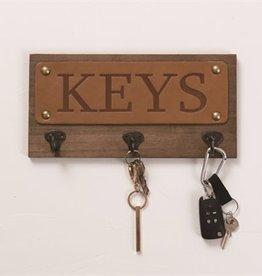Wood/Leather/Metal Key holder