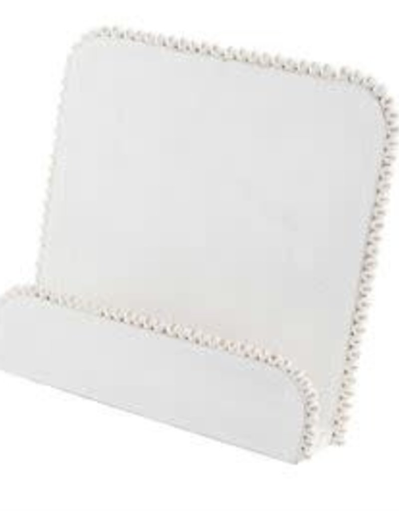 Cookbook  Holder, White Beaded