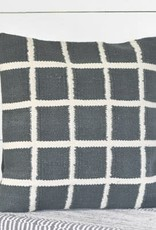 "20"" Carbon and Chalk Stripe Pillow"