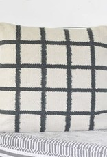 """20"""" Chalk and Carbon Stripe Pillow"""