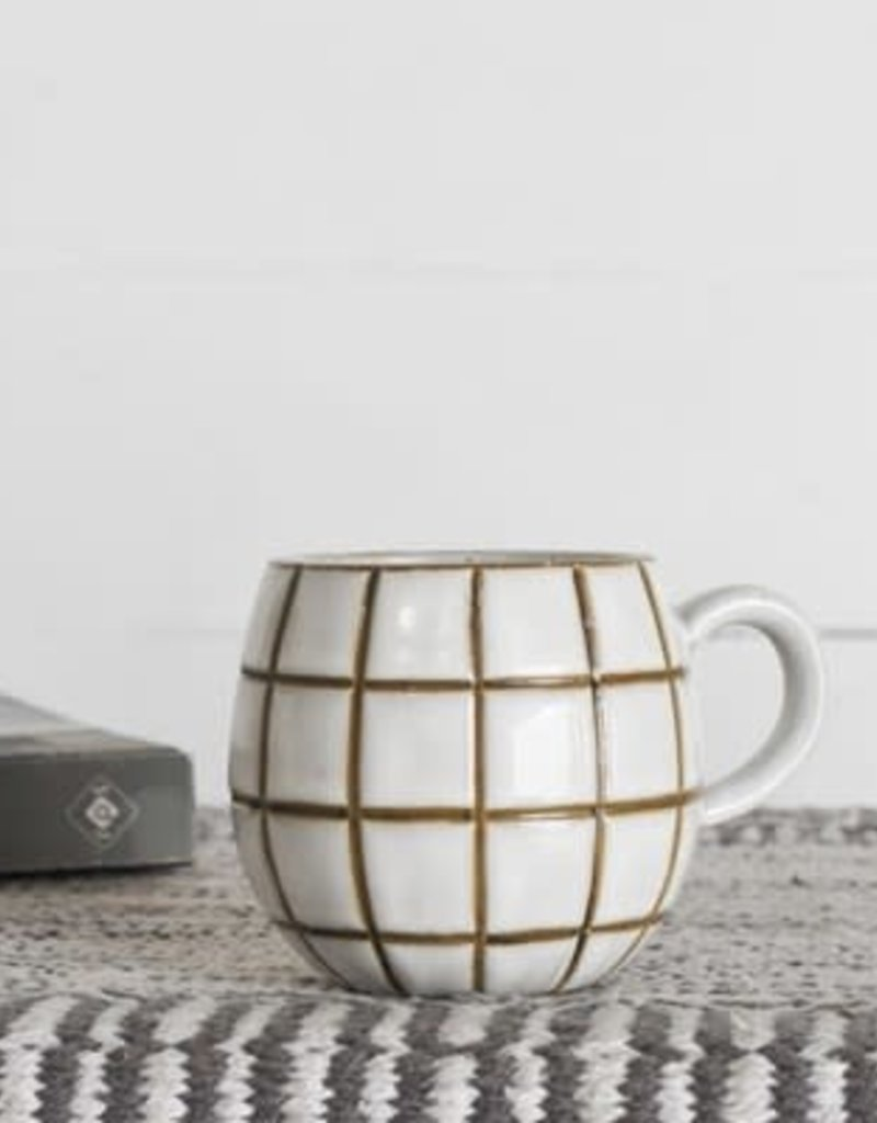 """3.35"""" Square Pattern Mug"""