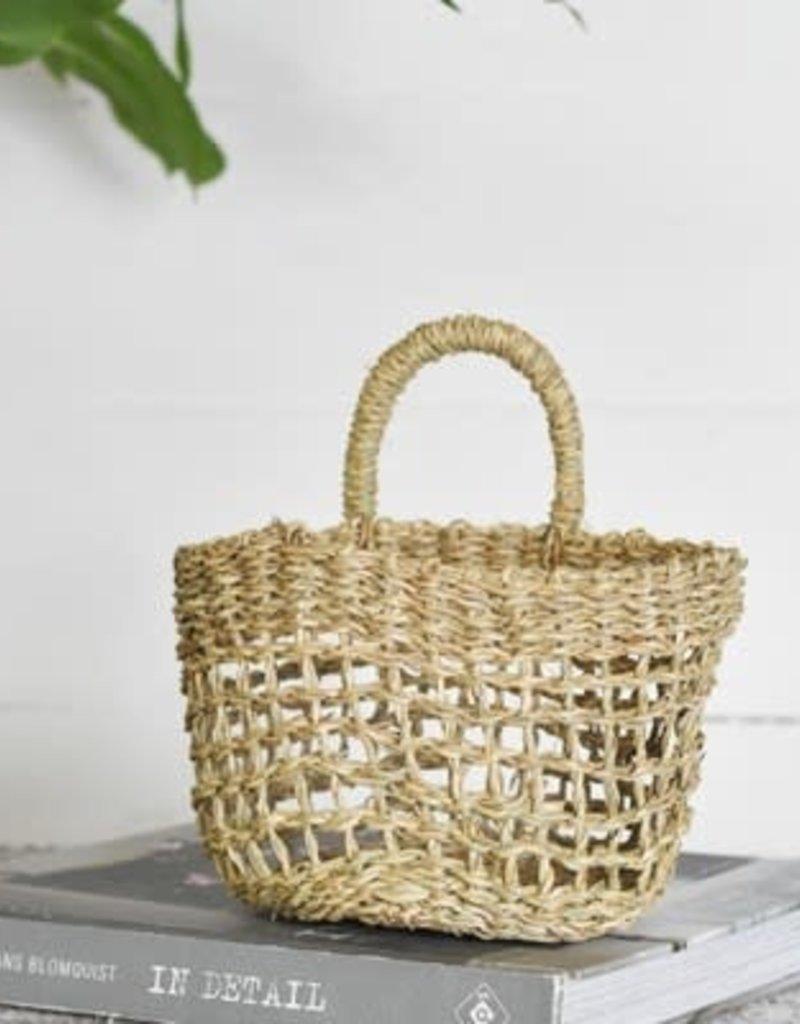 "6"" Seagrass Handle Basket"
