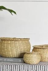 Emma Seagrass Basket w/Lid