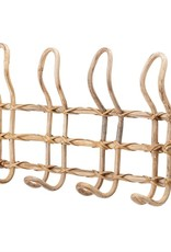 Rattan Wall Hanger w/ 4 Hooks