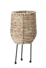 Natural Woven Rope Container w/ Metal Legs