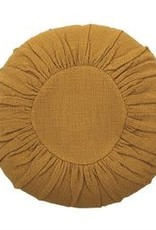 "18"" R Cotton Slub Pillow, Mustard"
