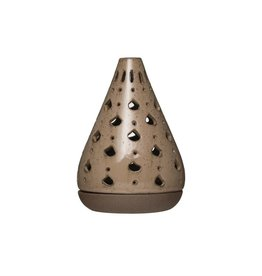 Stoneware Tealight Holder w/ Tray