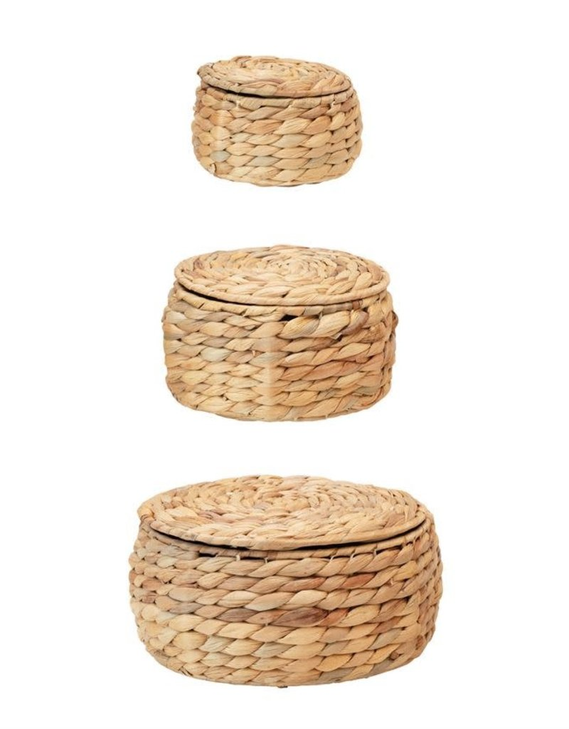 Water Hyacinth Baskets with Lids