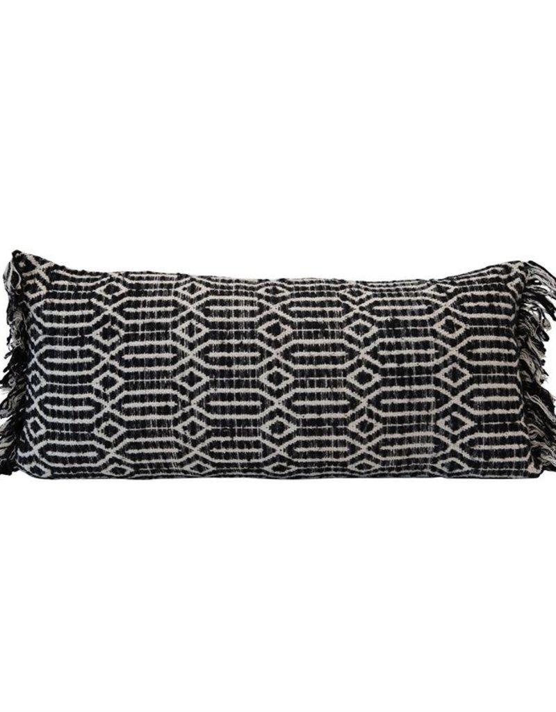 Blk/Wht Lumbar Pillow, Abstract