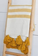 Mustard/White Stripe Throw