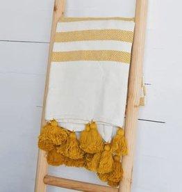 Mustard/White Stripe Throw