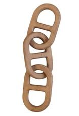 """8-1/2""""L Mango Wood Chain Decor"""