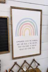 Over the Rainbow Framed art 24x36
