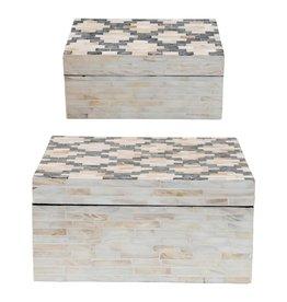 Capiz & Paper Mache Boxes w/ Lids